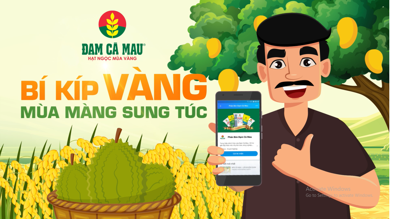 Video introducing Official Zalo account of Ca Mau Protein Fertilizer